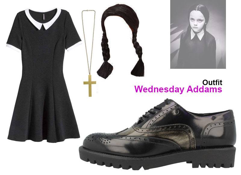 ¿Truco o trato? Outfit Wednesday Addams