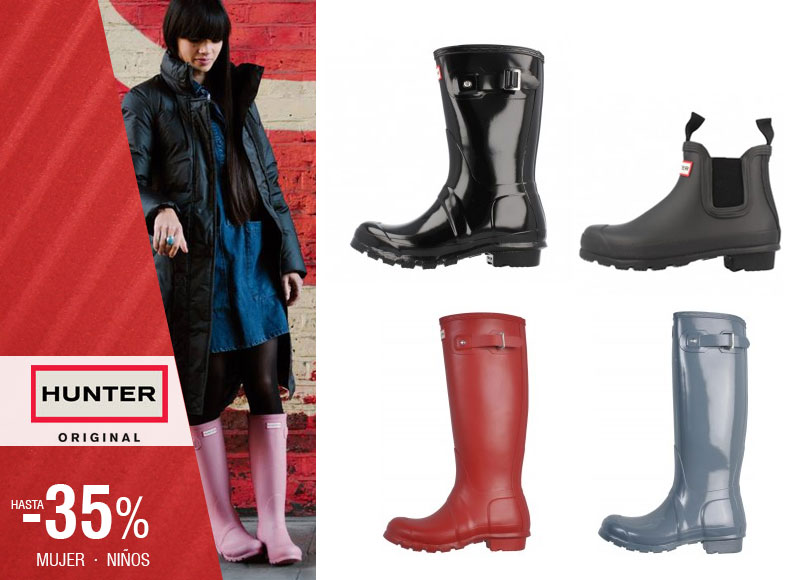 Tus botas Hunter favoritas en Rebajas